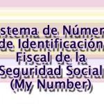 Sistema de Número de Identificación Fiscal de la Seguridad Social  (My Number)  (社会保障・税番号(マイナンバー)制度)